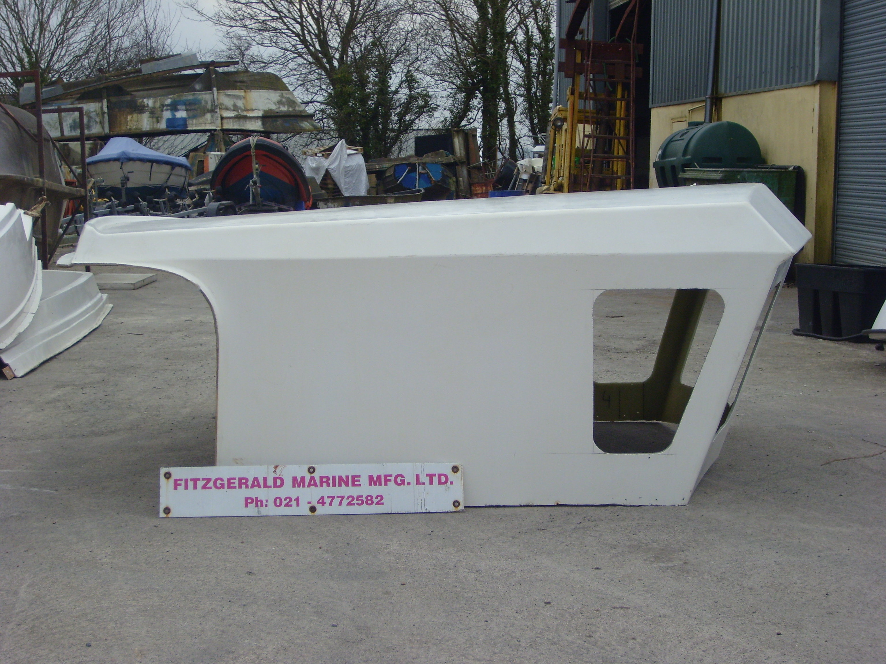 Fibreglass wheel house